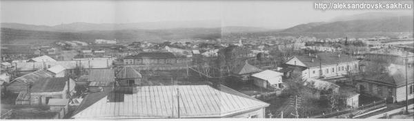 Панорама  Александровска с пожарной вышки - 1