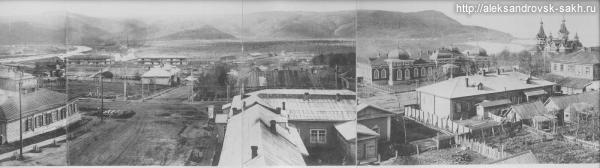Панорама Александровска с пожарной вышки - 2