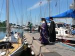 Освящение яхт архиепископом Владивостокским и Приморским Вениамином 21.06 в день отхода на Сахалин