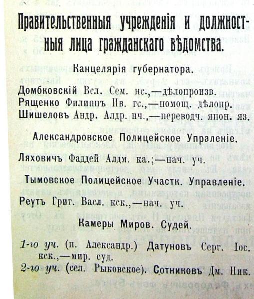 Данные за 1912 год