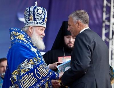 Божественная литургия на площади Победы 21 сент.10 года