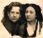 К юбилею народного театра Л.Н.Россовой (муж И.Сагайдаров и дочь Л.Россовой)