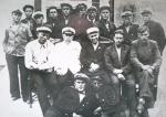 18 августа 1935 г. Во дворе редакции Владивостокской газеты «Красное знамя» Стоят: Пручинский А.Ф., Петров И.Г., Приходько И.С.,