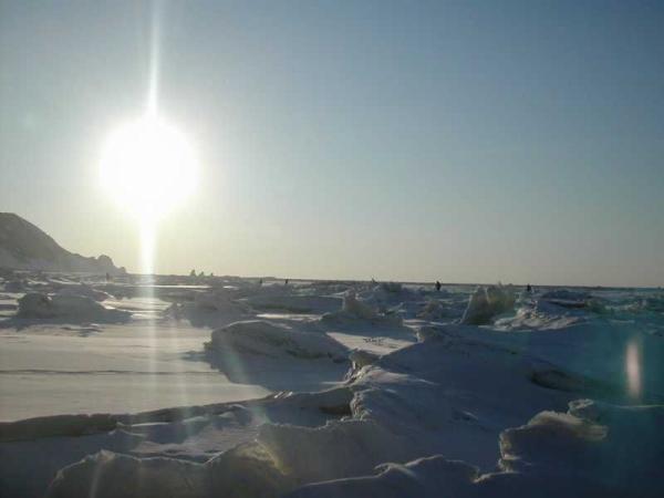 Три брата ,солнце , лед и рыбаки