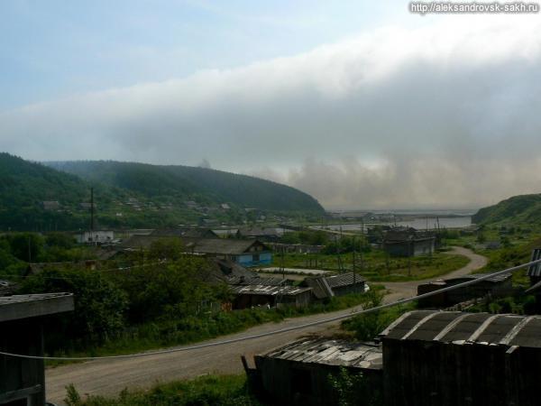 Поселок Танги борется с огнём.Год 2013.