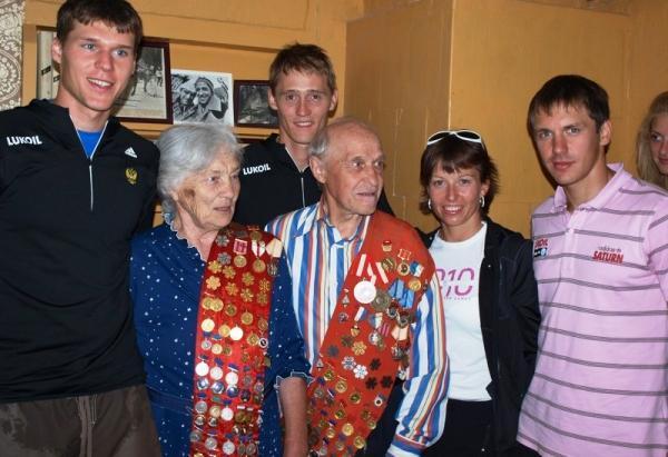 Олимпийские чемпионы Алевтина и Павел  Колчины-воспитанники сахалинского тренера В.С.Оботнина в 2010 году.