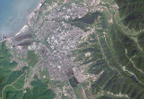 Фото города со спутника